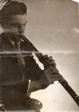 Far i hans yngre dage, da han spillede klarinet